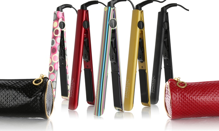Nano Silver Professional 1 Flat Iron With Luxe Carrying Case Groupon