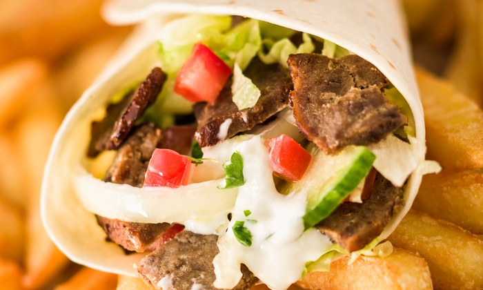 Street Babs - South Melbourne: Charcoal Souvlaki, Small Chips and Drink Combo for One ($9) or Two People ($18) at Street Babs (Up to $36 Value)