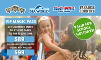 $89 for Unlimited Entry to Warner Bros. Movie World, Sea World, WetnWild Gold Coast + Paradise Country