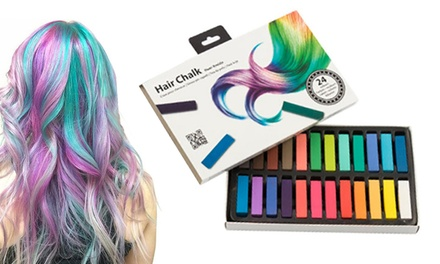 24Piece Hair Chalk Pack for Temporary Colouring