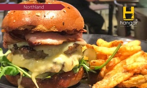 Hangar Northland: Choice of Burger with Chips and Drink Each for One ($12.90) or Two ($25) at Hangar Northland (Up to $40 Value)