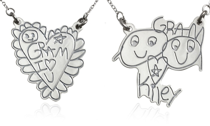 Kidz Can Design: Custom Sterling Silver Necklace From Kidz Can Design