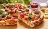 Pizzeria al trancio Cabra's - Botticino Sera: Una o 2 teglie di pizza d'asporto per 4 o 8 persone con bevanda alla Pizzeria al trancio Cabra's(sconto fino a 70%)