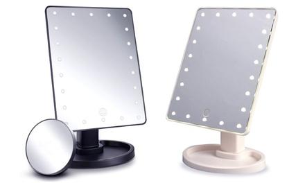 Miroir pour maquillage à 22 LED