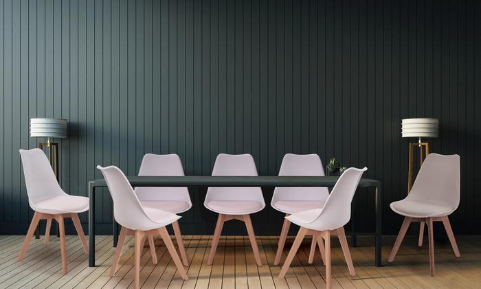 Set sedie suedia groupon goods for Groupon shopping arredamento