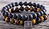 Men's Tigers Eye Bead & Stainless Steel Bracelet Collection