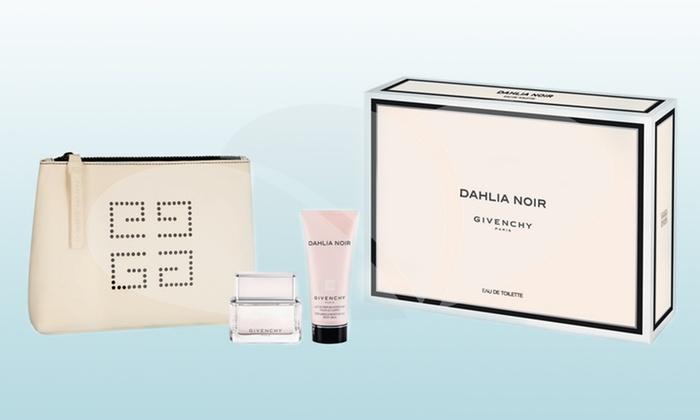 Givenchy Dahlia Noir Giftset: Dahlia Noir by Givenchy 3-Piece Gift Set for Women with Eau de Parfum, Body Milk, and Clutch Bag
