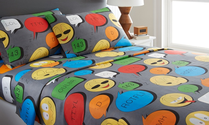 Emoji Collection Microfiber Sheet Set