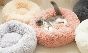 Soft Round Doughnut Pet Bed