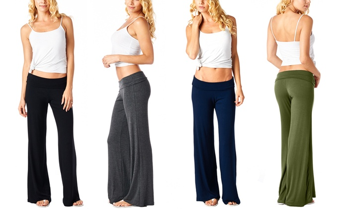 Women's Solid Colored Palazzo Pants