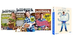 Jamie Magazine: Jamies meest recente Receptenjaarboeken + DVD-box Jamie in 30 minuten