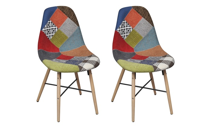 lot de chaises scandinave patchwork groupon. Black Bedroom Furniture Sets. Home Design Ideas