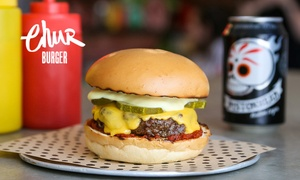 Chur Burger - Sydney CBD: $8 for Gourmet Burger of Choice at Chur Burger, Sydney CBD (Up to $12 Value)