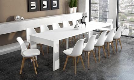 Tavolo Consolle Allungabile Fino A 235 Cm.Tavolo Consolle Allungabile Fino A 3 M Con Fino A 12 Sedie