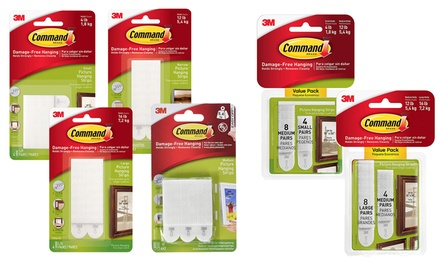 One, Two or Five Command Adhesive Picture Strips FourPacks