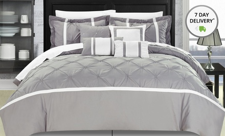Oversized and Overfilled 8-Piece Embellished Comforter Sets. Multiple Styles Available. Free Returns.