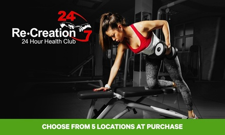 4Week Health Club Access Package for One $15 or Two People $28, ReCreation Health Clubs, 5 Locations Up to $198