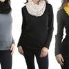 Women's Yarn-Braided Snood Neck Head Warmer