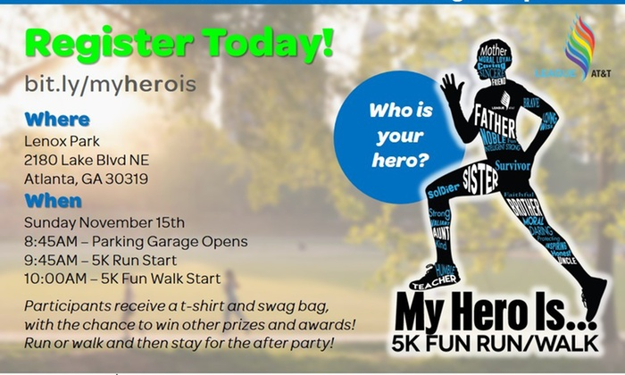 My Hero is 5K Fun Walk/Run - North Atlanta: Up to 51% Off Race Registration and Entry for My Hero is 5K Fun Walk/Run