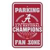 NCAA 2016 National Champions 18'' X 12'' Fan Zone Parking Sign: Alabama