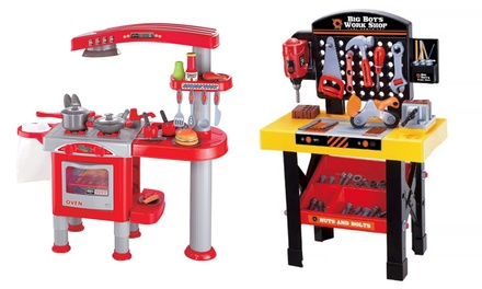 Up to 68 off on kids 39 play sets groupon goods for Kitchen set groupon
