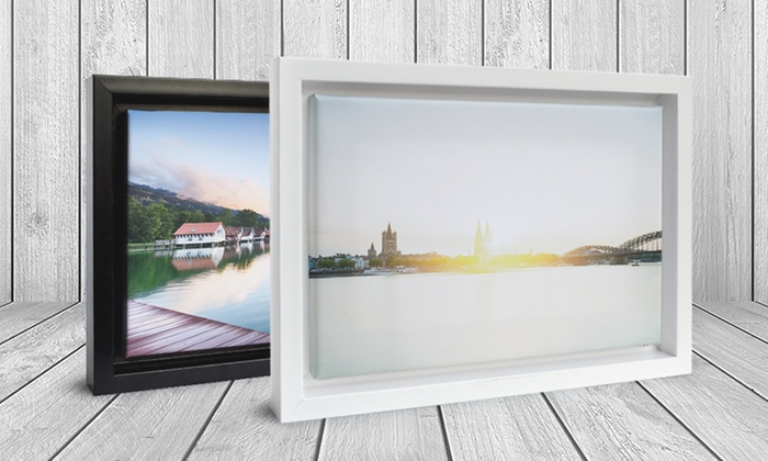 Groupon Up To 79 Off Custom Floating Frame Canvases From Canvason