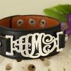 Custom Monogram Leather Bracelet from MonogramHub