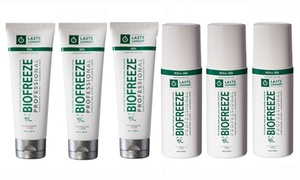 Biofreeze Professional Pain-Relieving Roll-On or Tube Gel (3-Pack)