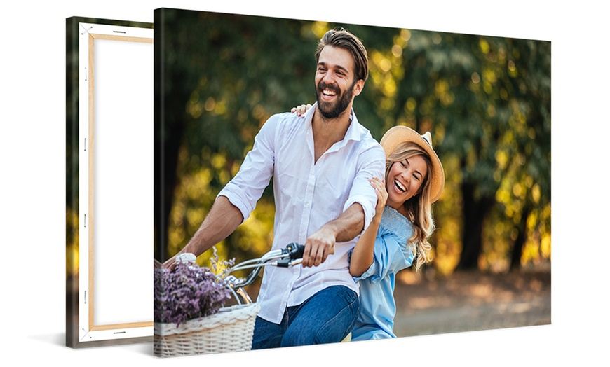 Up to 92% off on Custom Canvas Print from CanvasOnSale at Groupon