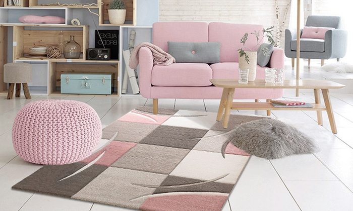 tapis pastel groupon shopping. Black Bedroom Furniture Sets. Home Design Ideas