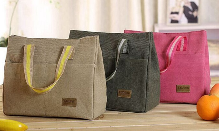 New Zealand Trading Solutions: $14 Canvas Lunch Bag in a Choice of Colours