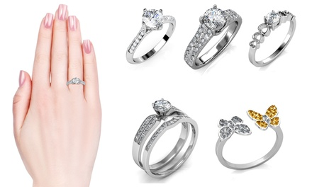 From $19.95 for White Gold-Plated Rings with Crystals from Swarovski® (Don't Pay Up to $98.35)