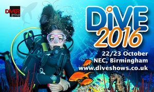 The Dive Show: The Dive Show: One or Two Day Tickets, 22–23 October at The NEC (Up to 50% Off)