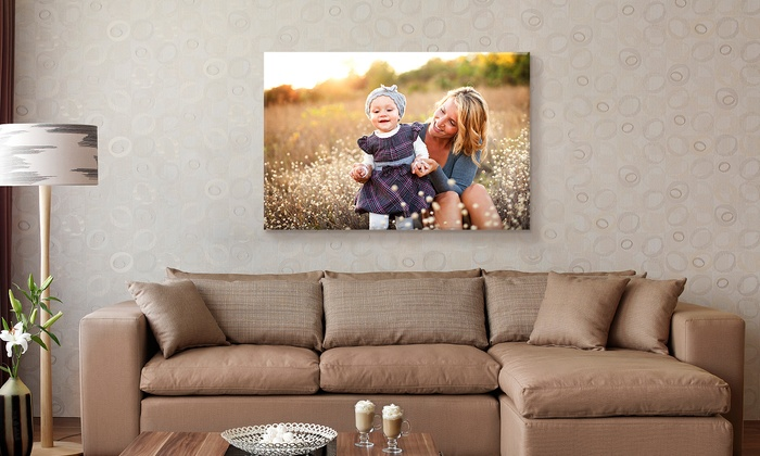 "Fabness: Personalized 24""x36"" Canvases from Fabness (Up to  85% Off)"