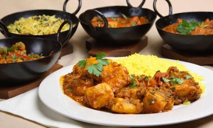 image for Two-Course Indian Meal with Rice or Naan and Drinks for Up to Four with at Bashundora (Up to 36% Off)