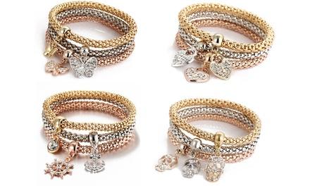 Three-Piece Charm Bracelet