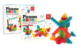 PicassoTiles 3D Bristle Building Blocks