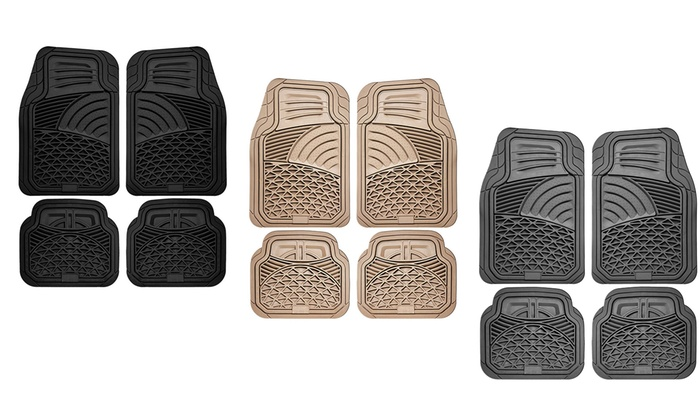Rubber Car Floor Mats 4 Pc Groupon Goods