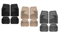 Universal Fit Tactical Heavy-Duty Rubber Car-Floor Mats Set (4-Piece)