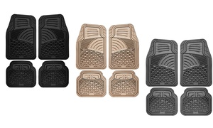 Universal Fit Tactical Heavy-Duty Rubber Car-Floor Mats Set (4-Piece)