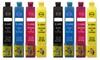 Lot de 8 cartouches compatibles avec Epson