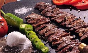 Café 1: Çag Kebap am Spieß mit Beilagen, Salat und Dips für 2, 4 oder 6 Personen im Café 1 (bis zu 40% sparen*)