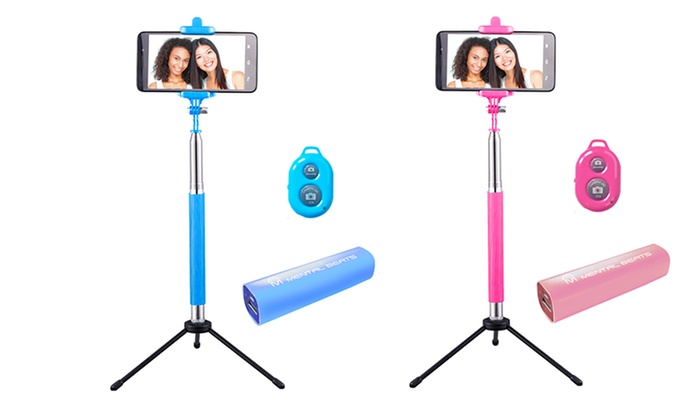selfie stick 4 in 1 combo kit groupon goods. Black Bedroom Furniture Sets. Home Design Ideas