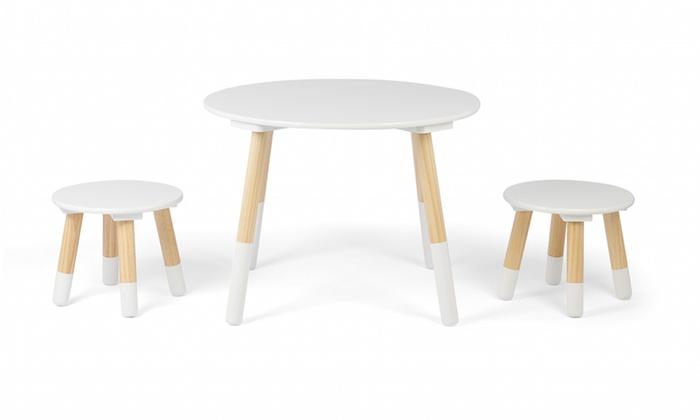 Kledio Kindertisch mit 2 Hockern   Groupon