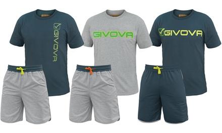 Completo homewear Givova in 100% cotone in 2 colori e 3 modelli