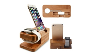 Trend Matters Wooden Smartphone and Smartwatch Charging Stand