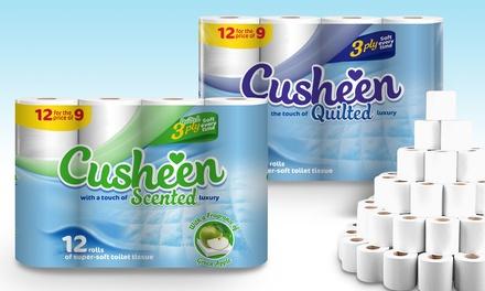 60 oder 120 Rollen Cusheen Toilettenpapier 3-lagig