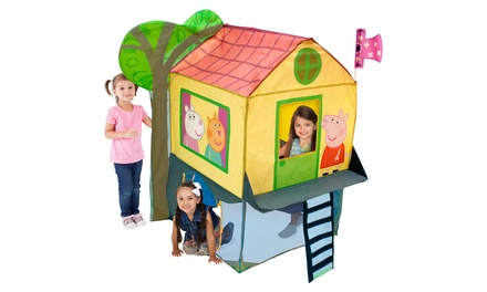 Peppa Pig Treehouse Play Tent Groupon Goods