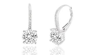 Swarovski Elements Crystal Leverback Earrings