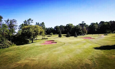 9-Hole Round of Golf for Two with Cart or for Four with Carts, Including Meal Voucher (Up to 32% Off)
